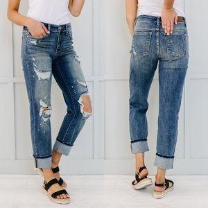 RESTOCKED❗️Judy Blue Destroyed Boyfriend Jeans